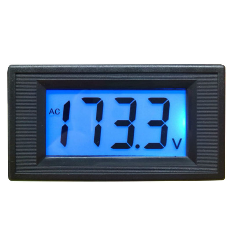 2-wire 80-500V AC bule LCD Digital Volt Panel Meter Voltmeter for 100V 110V 220v