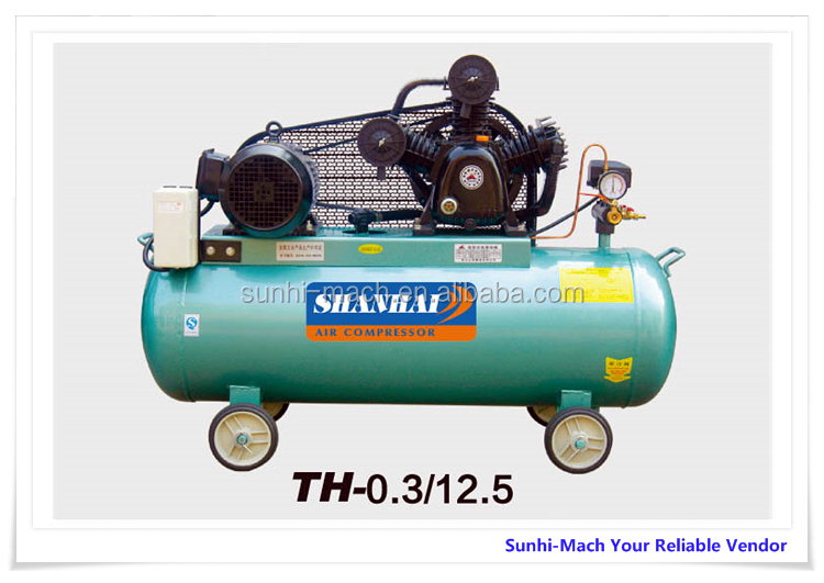 7.5kw 1500L/min 8bar 10bar 12.5bar belt driven piston air compressor 500L