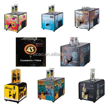 High Quaity Commercial Cold Shot Dispenser Refrigerated Whiskey Liquor Tap Machine Vodka Chiller