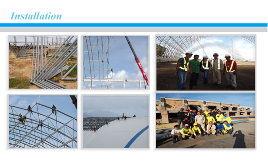 easy installation steel structure space frame for train station