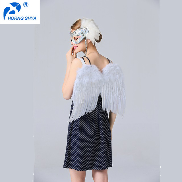 Alibaba China Manufacturer K2668 Free Sample White Feather Wings Large Feather Angel Wings