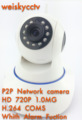 P2P PnP Wireless Digital Alarm Pan Tilt no Zoom H.264 CMOS IP Smart Home Camera with Alarm Fuction