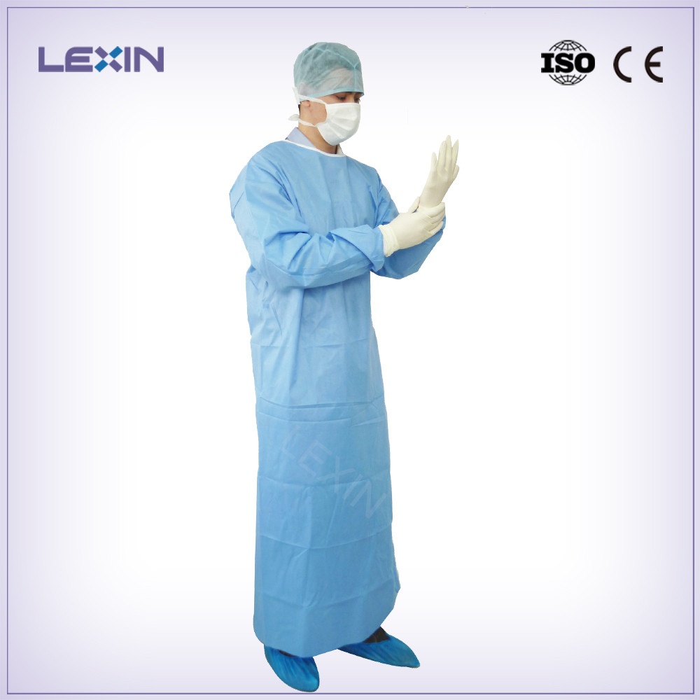 Long Sleeve SMMS Disposable hospital gowns