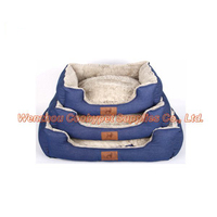 new product for sale PV fleece denim blue handmade dog pet sofa bed