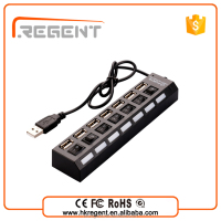 usb por hub suppliers On/Off Switch and led usb hub driver 7 ports 2.0