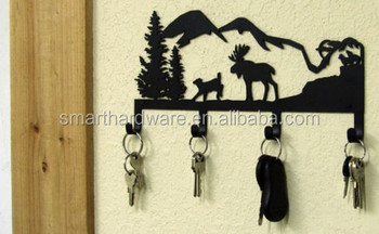 Metal DEER wall key holder Decorative key rack