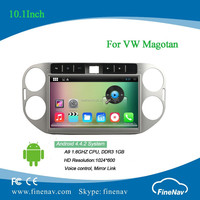 2 din Android 4.4 Car DVD player 10.1inch capacitive touch screen for VW Magotan with Radio GPS BT MP3 MP4 Wifi 3G bluetooth