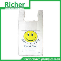 Grocery Smile Face T-Shirt Thank You Bag