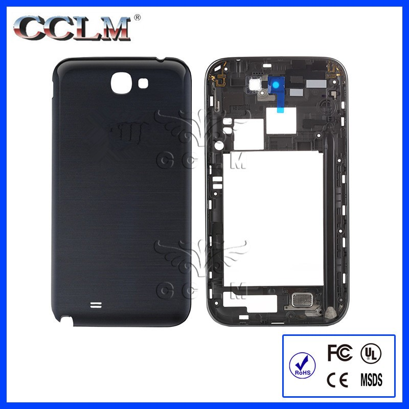 Full Housing Cover Frame Door Back Rear Battery Cover Case For Samsung Galaxy Note2 Note II 2 N7100 N7105