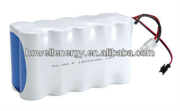 12 V Rechargeable High-Temp NiMH Batteries Pack