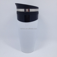 Logo printed 350ML eco friendly customized travel plastic coffee mug