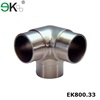 Stainless steel glass balustrade 3 way corner pipe fitting