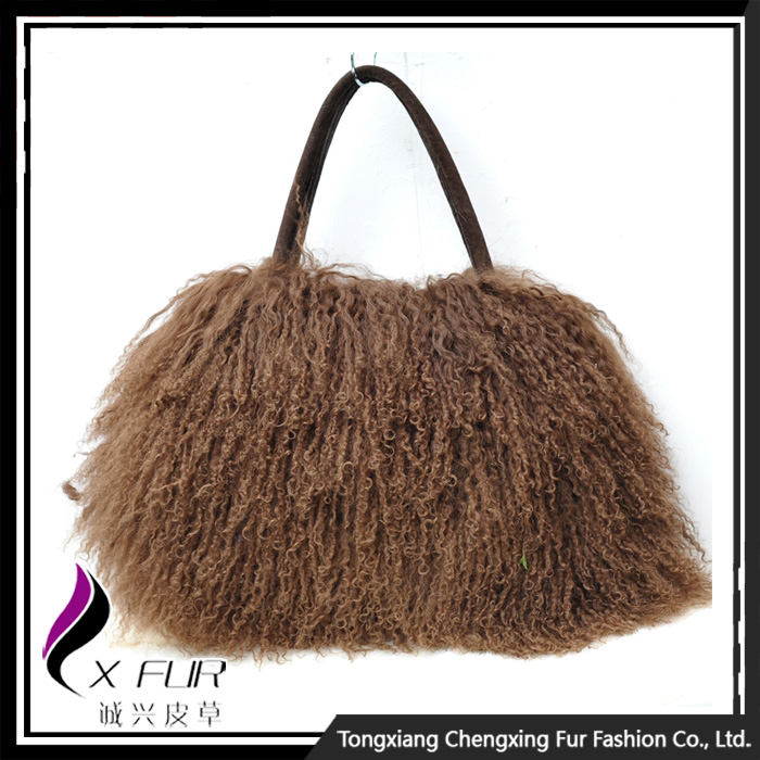 CX-H-24B 2014 Trendy Real Mongolian Lamb Fur Women <strong>Bags</strong>