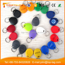 Logo Printable 125KHz TK4100 RFID Door Key Tag for Login Aeecss System