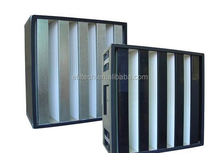large air volume hepa W shape composed plastic air filter frame