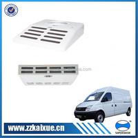Small ceiling mounted refrigeration unit for van