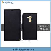 2016 new hot Book style wallet design card slot plain leather flip phone cover case for huawei honor note 8