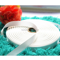 "Good Quality 1"" White Color Woven Edge Satin Ribbon"