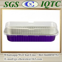 Y19Rectangular disposable foil container /takeaway lunch box/cake cups