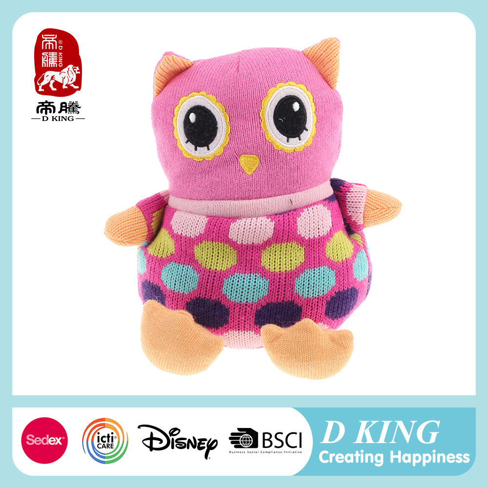 Fashion Plush Doll Baby Toy Crochet Bird Owl Hand Knitted Toy