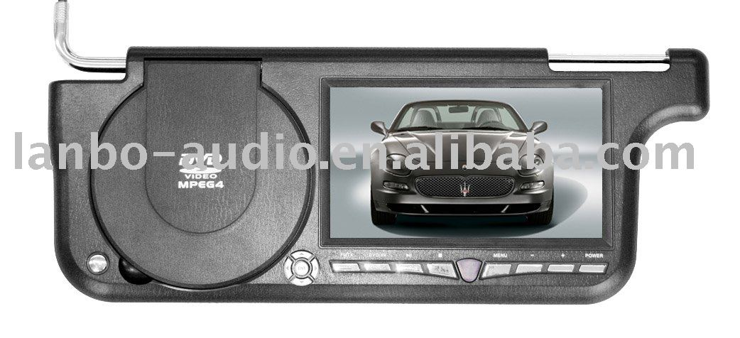 "7"" TFT LCD Sun-visor Car DVD Player"