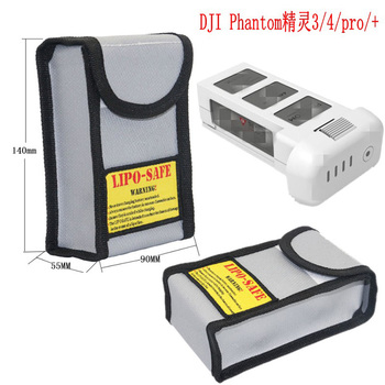 High quality Amazon hot sell dji drone carry case battery fireproof safety bag