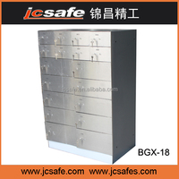 stainless steel safe deposit box,18doors