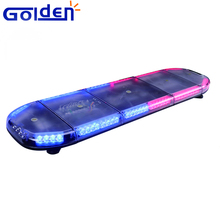 Purple violet profile 48inch red blue roof mount led strobe warning police light bars for emergency vehicles