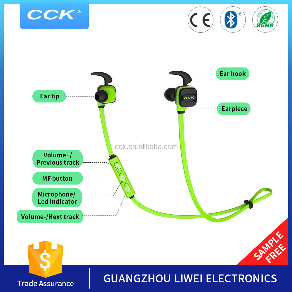 Promotional in-ear Neckband Style wireless bluetooth headset sport stereo headphone for <strong>communication</strong> and music