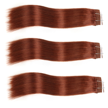 2017 China wholesale human hair weave double dark brown straight wave virgin Brazilian clip in hair extension