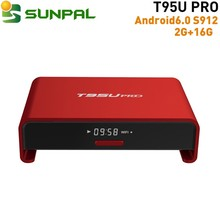 T95U Pro android7.0 2g 16g Smart TV Box 17.0 16.1 octa core Amlogic S912 Tv box Black Red color for T95UPRO