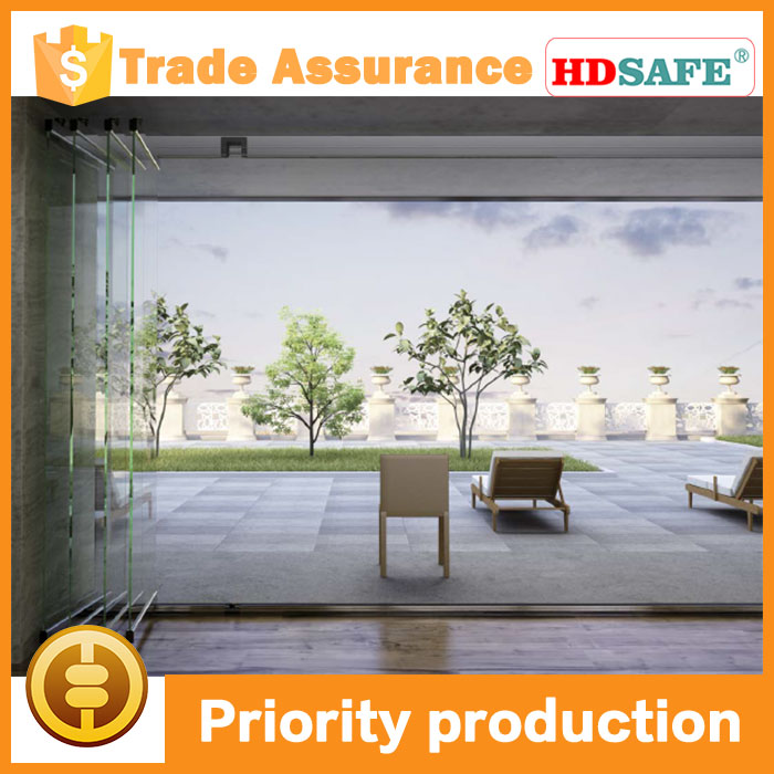 Applicative stainless steel folding door system