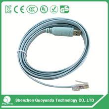 High Quality 6Ft FTDI USB RS232 to RJ45 Serial Console Cable with FT232RL Chipset