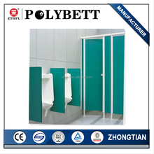 durable wooden toilet partition in washing room bathroom water-proof compact laminate hpl