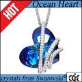 CDE 2017 fashion jewellery factory wholesale crystals from Swarovski Ocean heart pendant necklace