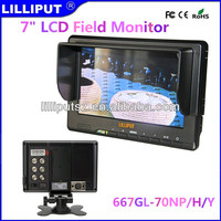 "7"" On camera HD LCD Field Monitor w/ HDMI in Component in Composite in"