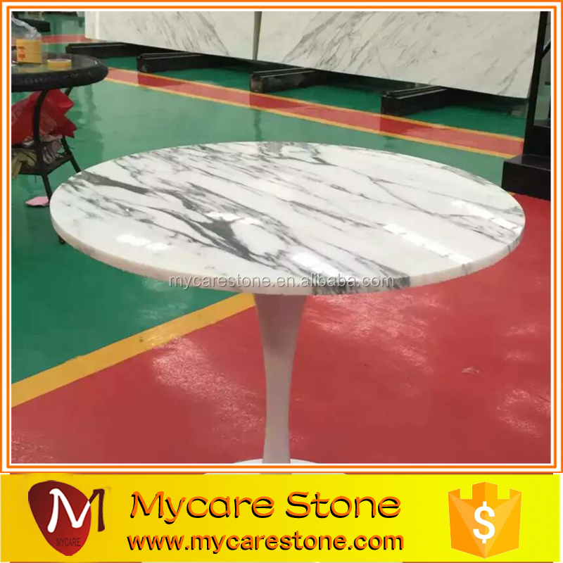 Wholesales White marble top bar round table marble top
