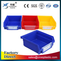 Industrial back hanging storage plastic parts bin