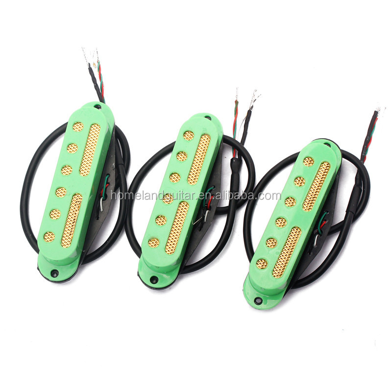 1set 48,50,52 Green Pickup Guitar Single Coil Pickup Set