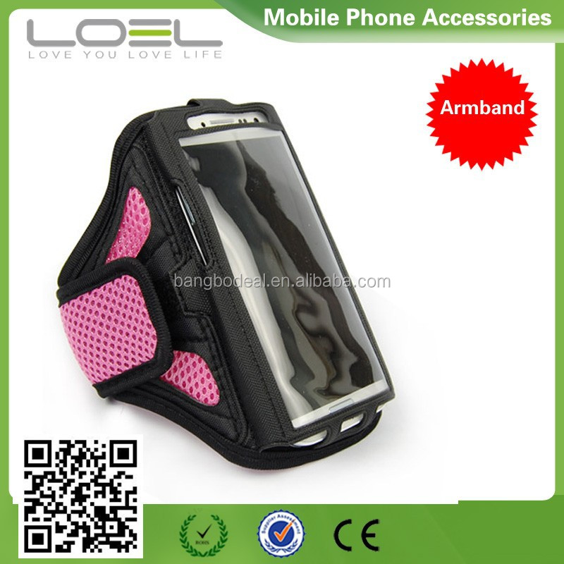 Colorful Runing Gym Sport Armband Case jogging armband case for cellphone Armband Case for GALAXY Note II N7100