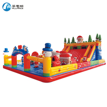 christmas theme slide giant inflatable slide for sale