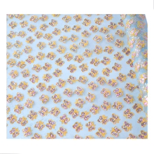vinyl woven stamping butterfly bronzing mesh net fabric for bags and shoes