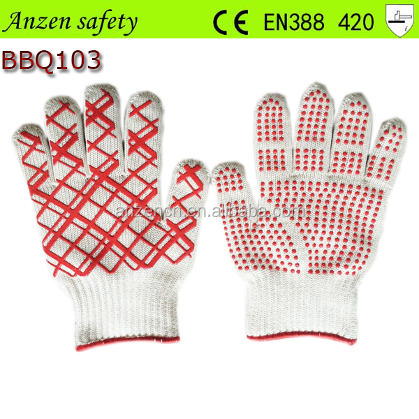 household waterproof heat resistant bbq glove from china