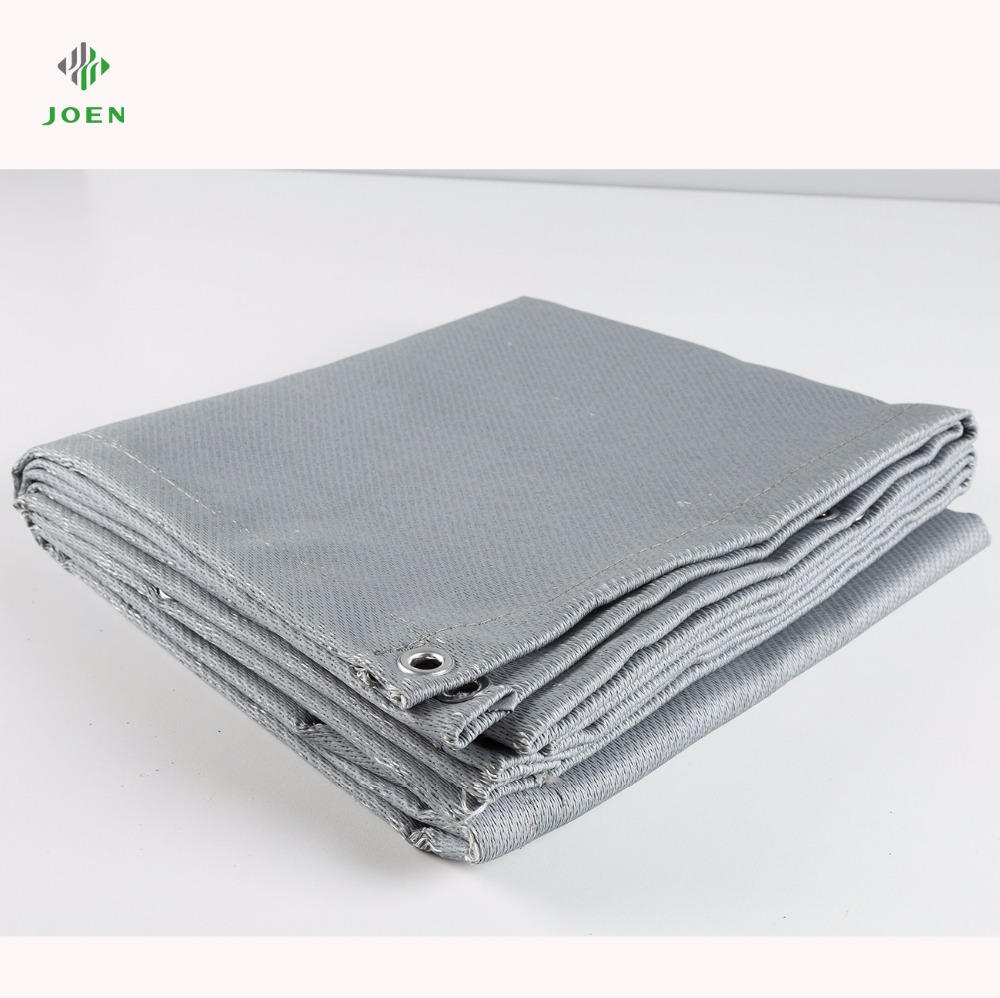 thermal fireproof silicone coated glass fiber fabric for fire welding blanket