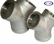 schedule 40 45 degree y branch pipe fitting lateral tee manufacturer