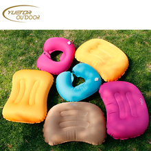Ultralight Inflatable Travel & Camping Air Pillow - Compressible, Compact, Comfortable, Ergonomic Pillow for Neck & Back Support