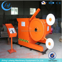 Diamond wire saw travertine quarry cutting machine