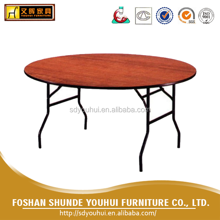 Home Furniture wooded folding banquet table / banquet round table