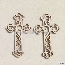 2016 hot sale wood crosses decorations/keychains/necklace/gift
