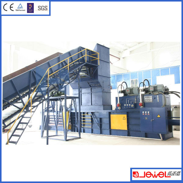 HOT sale JEWEL Brand hgih efficiency automatic horizontal waste paper bailing machine